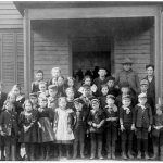 Pottersville School Children - early 1900s - At the Northwestern corner of Bedminster. Photo courtesy of the Bernardsville Public Library.