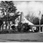 The Old Mill Inn - circa 1940 - The famous hotel and restaurant, was the barn of the Van Dorn Mill across the street.